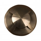 Garden Zone GZ/FUSION8 Fusion 3 direction ring in-ground light - Solid Natural Brass