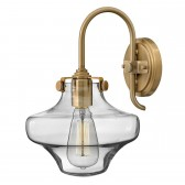 Hinkley HK/CONGRES1/B BC Congress Clear Glass Wall Light