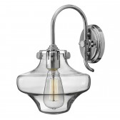 Hinkley HK/CONGRES1/B CM Congress Clear Glass Wall Light