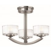 Hinkley Lighting HK/MERIDIAN/SF Merdian 3 - Light Semi-Flush Light