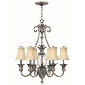 Hinkley Lighting HK/PLANT7 PL Plantation 7 - Light Chandelier Polished Antique Nickel