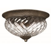 Hinkley Lighting HK/PLANT/F/L PZ Plantation 3 - Light Large Flush Light Pearl Bronze