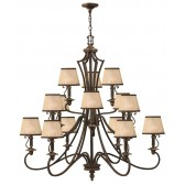Hinkley Lighting HK/PLYMOUTH15 Plymouth 15 - Light Chandelier
