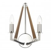 Dar Hotel 2-Light Wall Light Polished Nickel