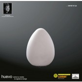 Huevo Egg Table Lamp 1 Light Indoor In Line Switch White