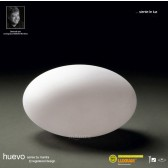 Huevo Oval Table Lamp 1 Light Outdoor IP65 White