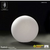 Huevo Small Ball Table Lamp 1 Light Indoor In Line Switch White