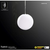 Huevo Small Ball Pendant 1 Light Outdoor IP44 White