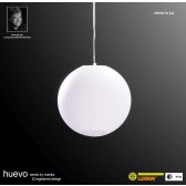Huevo Medium Ball Pendant 1 Light Outdoor IP44 White
