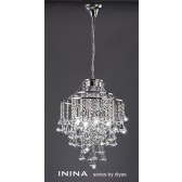 Diyas Inina Pendant 4 Light Polished Chrome/Crystal