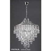 Diyas Inina Pendant 7 Light Polished Chrome/Crystal