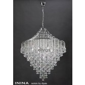 Diyas Inina Pendant 9 Light Polished Chrome/Crystal