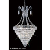 Diyas Kanya Pendant 8 Light Polished Chrome