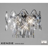 Diyas Kenzie Wall Lamp 4 Light Polished Chrome/Crystal Switched
