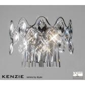 Diyas Kenzie Wall Lamp 4 Light Polished Chrome/Crystal Switched