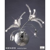 Diyas Kenzo Wall Lamp 2 Light Polished Chrome/Crystal Switched