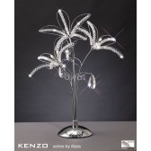 Diyas Kenzo Table Lamp 3 Light Polished Chrome/Crystal