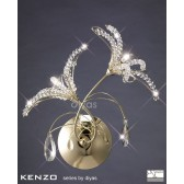 Diyas Kenzo Wall Lamp 2 Light Gold/Crystal Switched