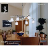 Keops Telescopic Pendant 6 Lights Satin Nickel