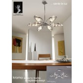 Kromo Pendant 6 Light Polished Chrome