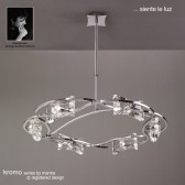 Kromo Pendant Round 6 Light Polished Chrome