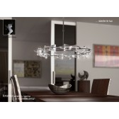 Kromo Pendant Round 8 Light Polished Chrome
