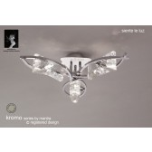 Kromo Ceiling 3 Light Polished Chrome