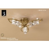 Kromo Ceiling 3 Light Antique Brass
