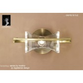 Kromo Wall 1 Light Antique Brass