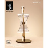Kromo Table 1 Light Antique Brass