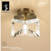 Kromo Ceiling 1 Light Antique Brass