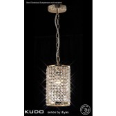 Diyas Kudo Cylinder Shade French Gold/Crystal