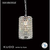 Diyas Kudo Cylinder Shade Polished Chrome/Crystal