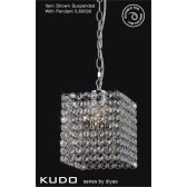 Diyas Kudo Crystal Square Shade Polished Chrome Non-Electrical