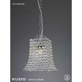 Diyas Kudo Crystal Curved Trapezium Polished Chrome Non-Electric