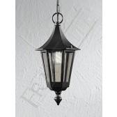 Franklite Exterior Boulevard Hanging Lantern - Matt Black, IP43