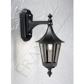 Franklite Exterior Boulevard (Down) Wall Lantern - Matt Black, Cast Aluminium, Smoked Glass, IP43