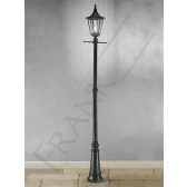 Franklite Boulevard Lamp Post - Matt Black, Cast Aluminium, Smoked Polycarbonate, IP43