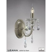 Diyas Leana Wall Lamp 1 Light Satin Nickel/Crystal Switched