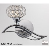Diyas Leimo Wall Lamp 1 Light Left Polished Chrome/Crystal Switched