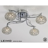 Diyas Leimo Ceiling 4 Light Polished Chrome/Crystal