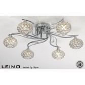 Diyas Leimo Ceiling 6 Light Polished Chrome/Crystal