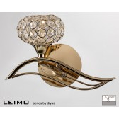 Diyas Leimo Wall Lamp 1 Light Left French Gold Switched