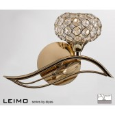Diyas Leimo Wall Lamp 1 Light Right French Gold Switched