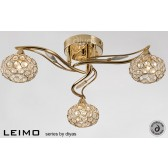 Diyas Leimo Ceiling 3 Light French Gold/Crystal