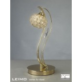 Diyas Leimo Table Lamp 1 Light French Gold/Crystal