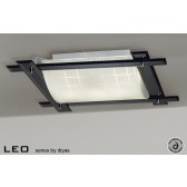 Diyas Leo Ceiling 3 Light Black Chrome/Smoked Mirror