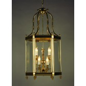 Impex Regal Lantern Polished Brass - 9 Light