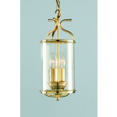 Impex Winchester Lantern Polished Brass - 2 Light