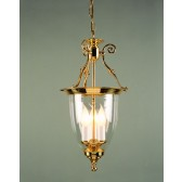 Impex Bilbao Lantern Solid Brass - 3 Light